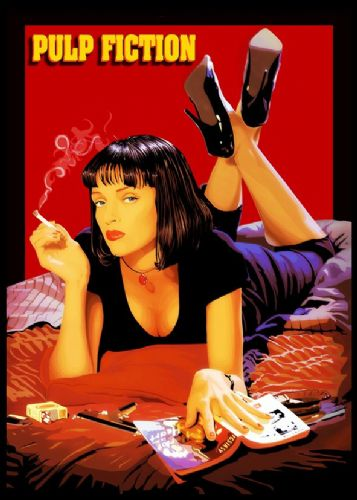 1990's Movie - PULP FICTION - POSTER  PAINT LOGO / canvas print - self adhesive poster - photo print
